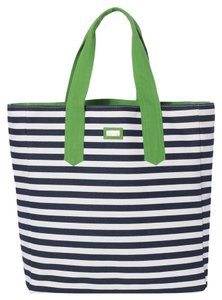 Ame & Lulu Beach New Tote in Navy/Green Piper