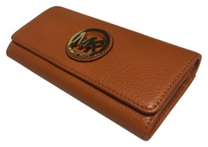 Michael Kors Fulton Wallet Burnt Orange Clutch