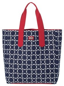 Ame & Lulu Beach New Tote in Navy/Red Cru