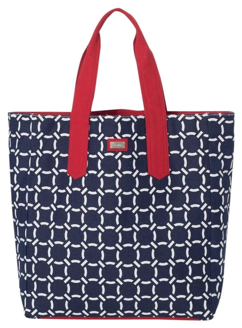 Item - Beach Bag-navy/Red Navy/Red Cru Cotton Canvas Tote