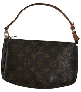 Louis Vuitton Monogram Pochette Accessories Leather Brown Monogram Clutch