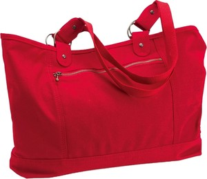 Carolina Sewn Large Brand New Tote in Red