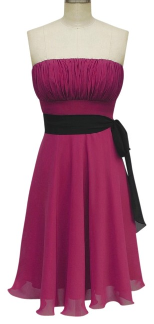 Preload https://item3.tradesy.com/images/red-strapless-chiffon-pleated-bust-w-sash-knee-length-formal-dress-size-6-s-680172-0-0.jpg?width=400&height=650