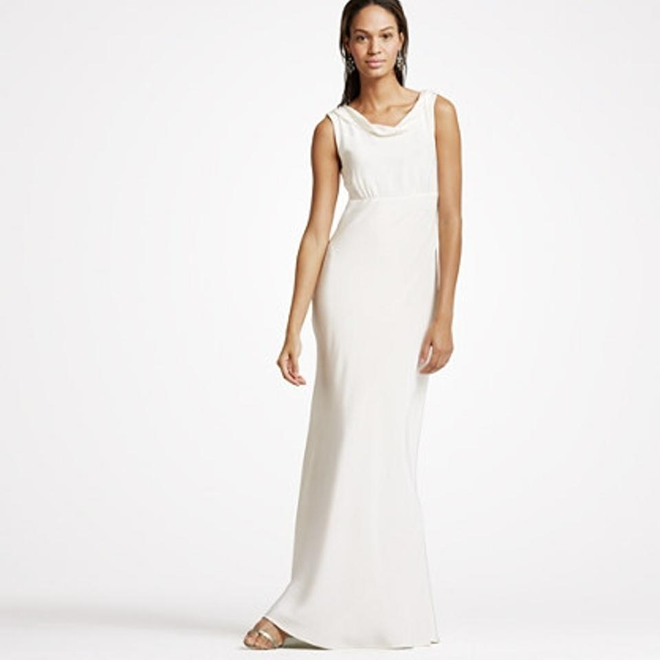 J.Crew Ivory Midweight Silk Hope Gown Casual Wedding Dress Size ...
