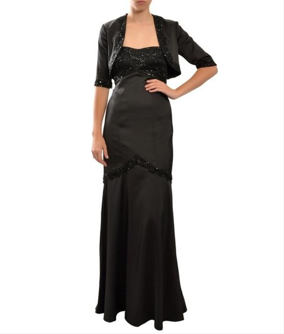 Tadashi Shoji Jeweled Evening Gown Bolero Dress