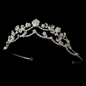 Crystal Butterfly Wedding Bridal Tiara