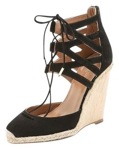 Aquazzura Black Wedges