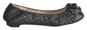 Chanel Quilted Leather Black Flats