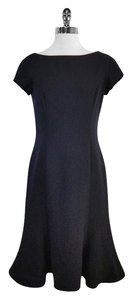 Ralph Lauren Black Wool Short Sleeve Dress