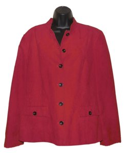 Alfred Dunner Polyester Lined Dryclean Only Red Jacket