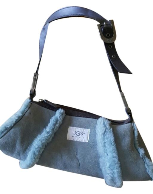 Item - Light Blue Suede & Shearling Shoulder Bag