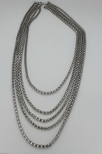 Other Women Fashion Long Necklace Silver Metal Chain Link Strands Trendy Jewelry Image 10