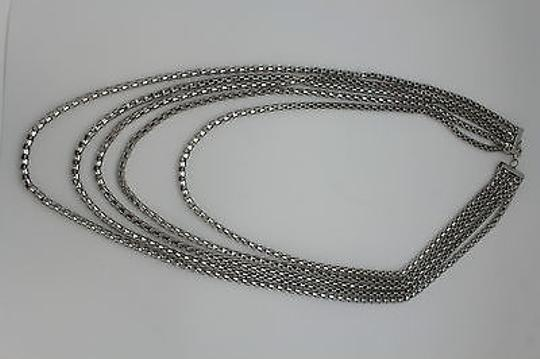 Other Women Fashion Long Necklace Silver Metal Chain Link Strands Trendy Jewelry Image 8
