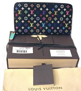 Louis Vuitton Louis Vuitton Multicolor Zippy Wallet Noir Authentic Collectors