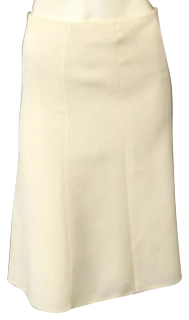 Item - Cream / Off-white Wool A-line Skirt Size 4 (S, 27)