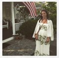 BHLDN Ivory with Green and Gold Silk Linen Shell. Silk Charmeuse Lining. Frondescence Casual Wedding Dress Size 4 (S) Image 0