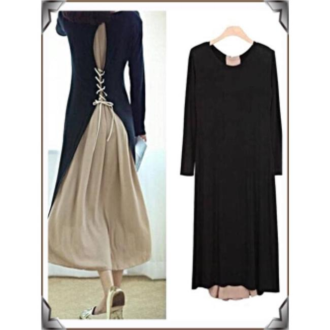 Black w Nude/PALE Pink Maxi Dress by IT's SIMPLE PERFECTION Image 11