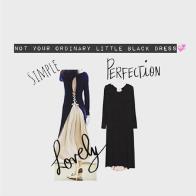 Black w Nude/PALE Pink Maxi Dress by IT's SIMPLE PERFECTION Image 8