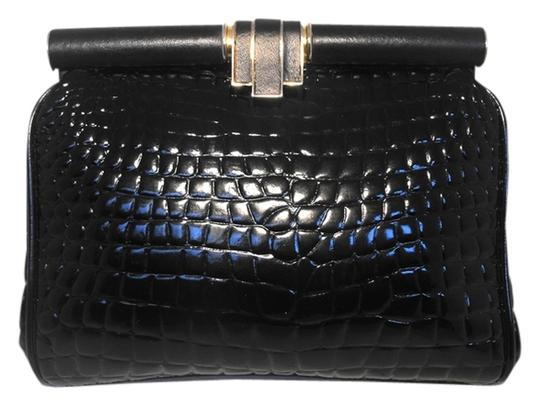 Susan Gail Vintage Vintage 1980s Alligator Black Clutch