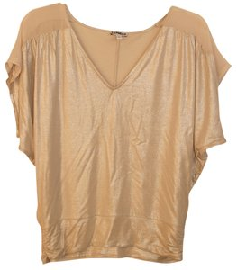 Express Top Beige/Sheer Beige Shoulders