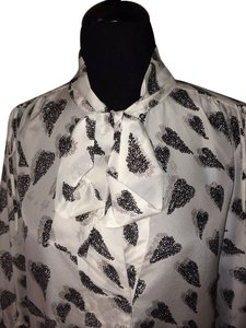 Diane von Furstenberg Top Hearts White