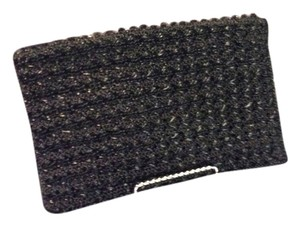 Braided Black Clutch