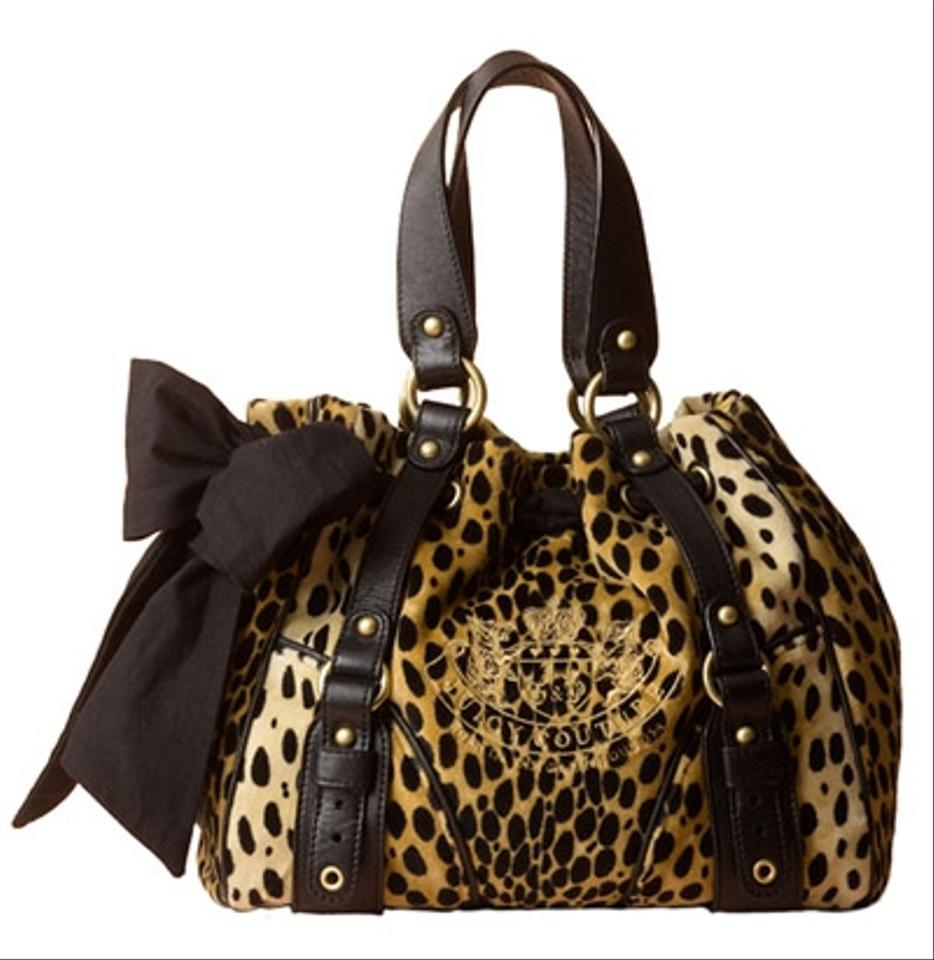 juicy couture velour cheetah daydreamer bag cheetah 77 off tradesy. Black Bedroom Furniture Sets. Home Design Ideas