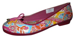 Sperry Waterproof pink, mauve mutli color print Flats
