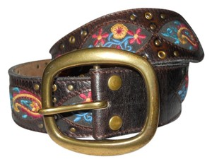 Lucky Brand Lucky Brand M embroidered studded leather