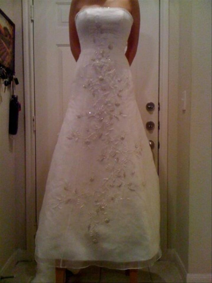 Ivory Chiffon Exclusive Bridals By A C E Traditional Wedding Dress Size 4 S
