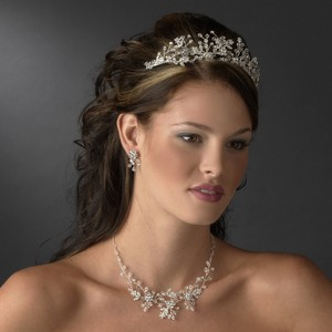 Austrian Crystal Floral Wedding Bridal Tiara