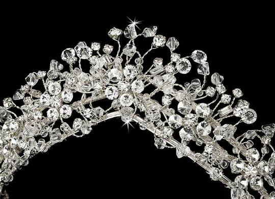 Silver Crystal Couture Tiara