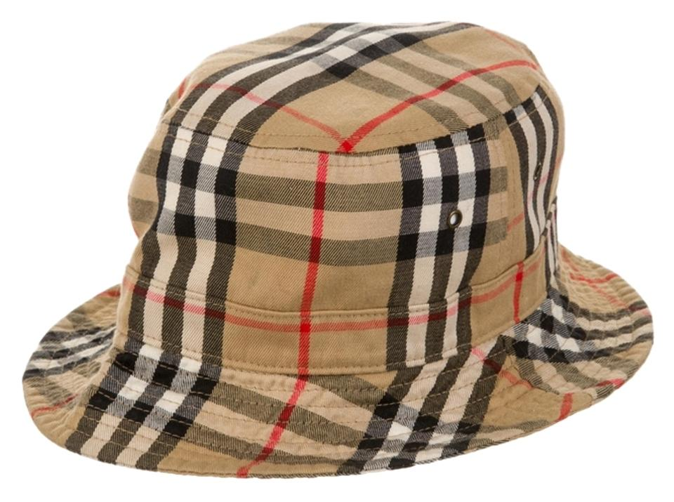d2bb592409b Burberry Tan multicolor Nova Check plaid print Burberry bucket hat New  Image 0 ...