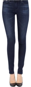 AG Adriano Goldschmied Middi Skinny Jeans-Medium Wash
