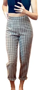 American Apparel Houndstooth Capri/Cropped Pants Beige