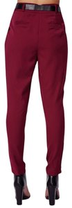 American Apparel Tailored Trouser Pants Burgundy