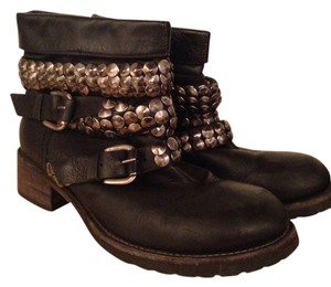 Other Silver Studs Studded Balenciaga Buckle Docmartins black Boots