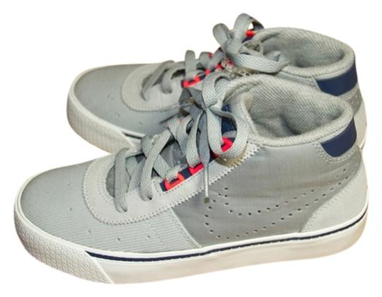 Nike Leather Gray/HotPunchPink/Navy Athletic