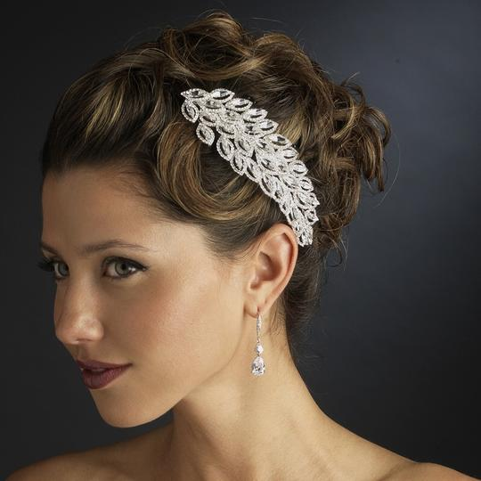 Silver Marquise Crystal and Rhinestone Comb Hair Accessory