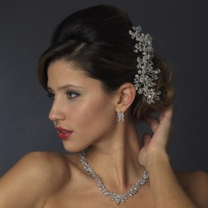 Whimsical Swarovski Crystal & Rhinestone Wedding Bridal Comb