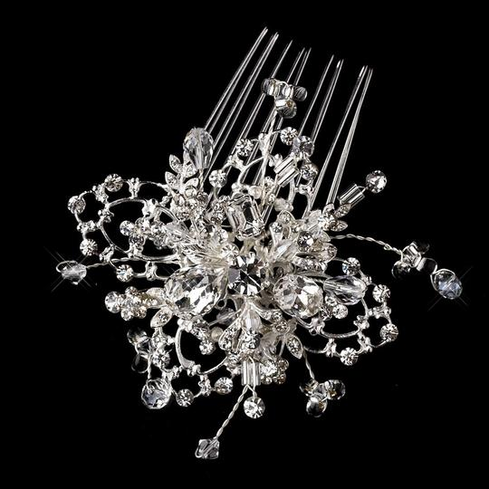Silver Fabulous Swarovski Crystal and Stone Comb Hair Accessory