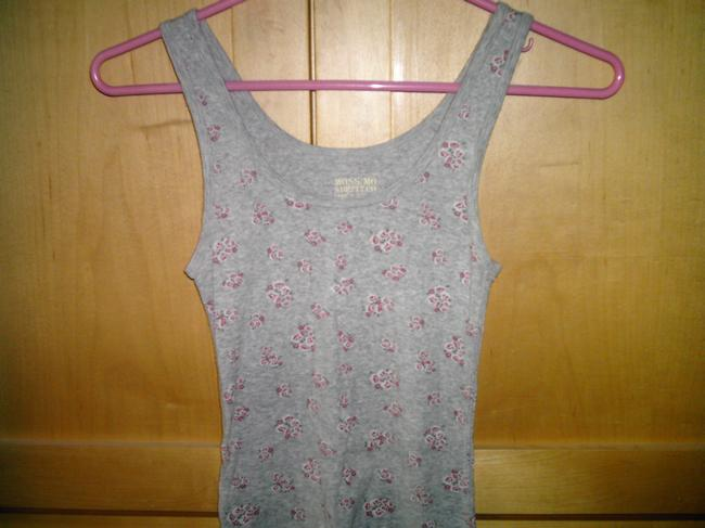 THREE MOSSIMO TANKS 3 Top THREE TOPS, BLACK, GREY AND MULTI - FLORAL