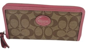 Coach SIGNATURE C ZIP AROUND WALLET