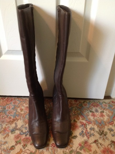 Worthington Brown Leather Dark Brown Boots