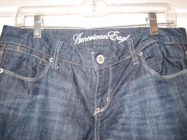 American Eagle Outfitters Denim Flare Pants Dark Rinse