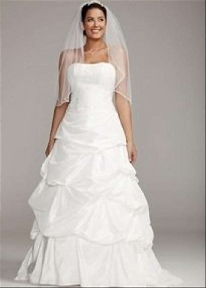 Taffeta Strapless Trumpet Wedding Dresses With Beaded Lace : David s bridal strapless taffeta gown with beaded lace