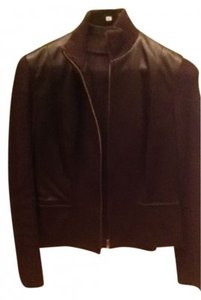 Worth chocolate brown Leather Jacket