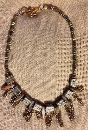 Designed by me Handmade Bead And Chain Necklace