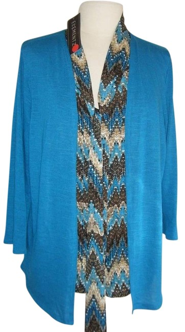 Preload https://img-static.tradesy.com/item/682654/elementz-turquoise-multi-sweater-2fer-look-of-2-pc-in-one-twinset-ret-blouse-size-14-l-0-0-650-650.jpg