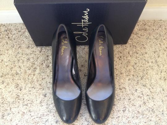Cole Haan Leather Heel Air Violet Nike Air Air Soles Black Calfskin Pumps